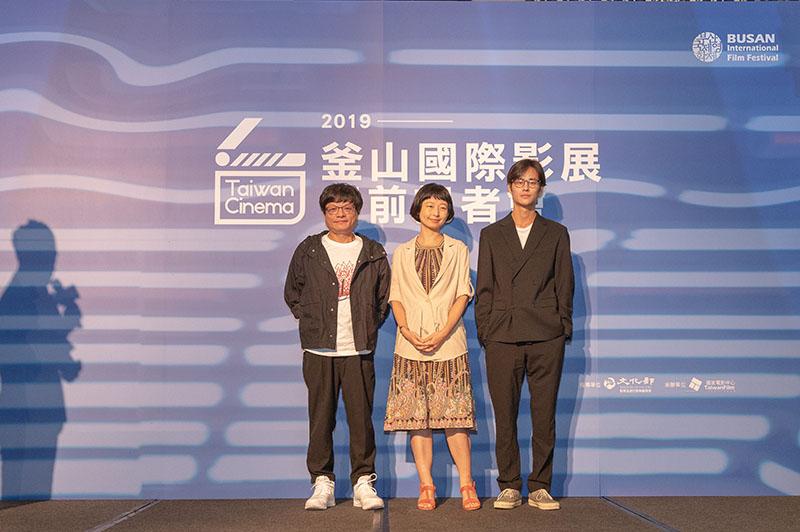 左起:《野雀之詩》導演施立、監製賴珍琳、演員夏騰宏