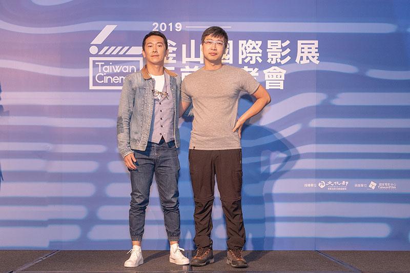 左起:《灼人秘密》演員施名帥、製片林聖文
