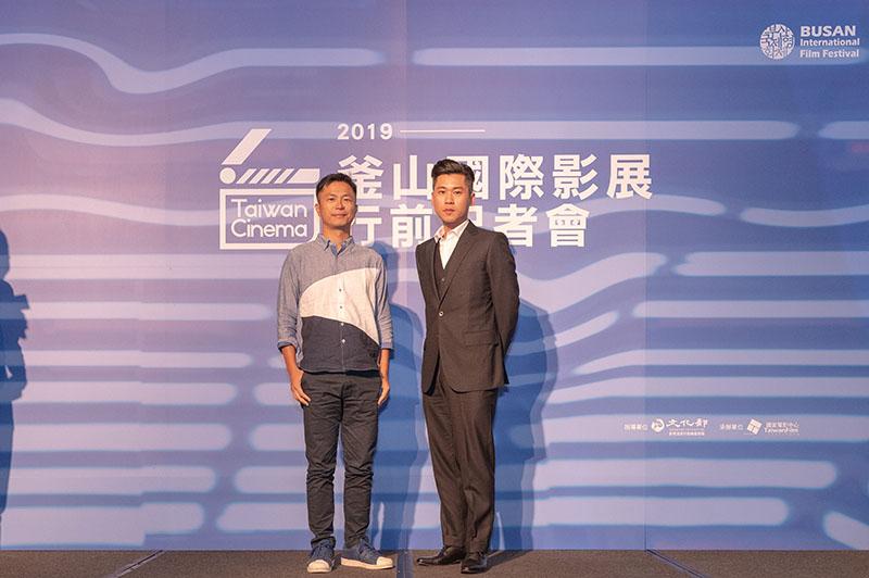 左起:《江湖無難事》導演高炳權、演員黃迪揚