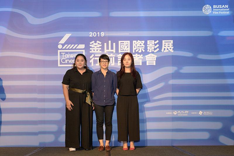 左起:《大餓》演員蔡嘉茵、導演謝沛如、執行監製李易恩
