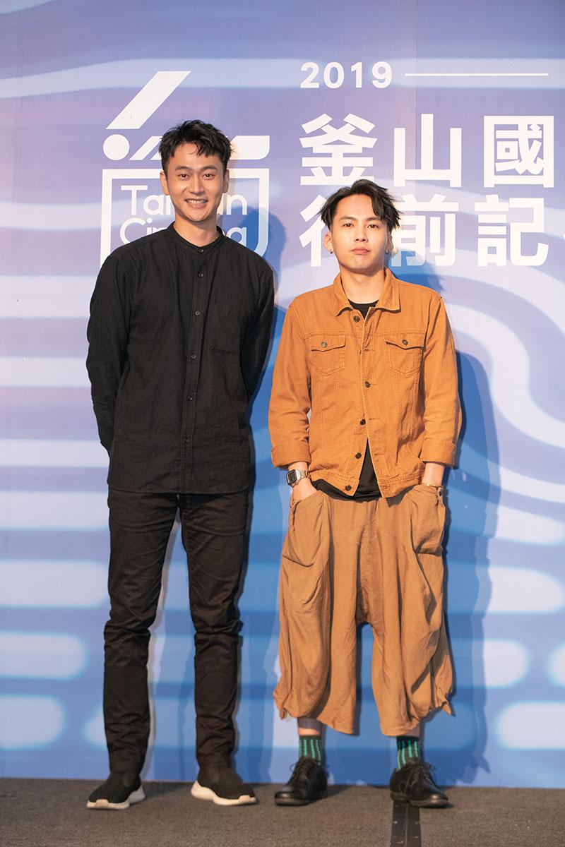 左起:《陽光普照》演員劉冠廷、演員巫建和