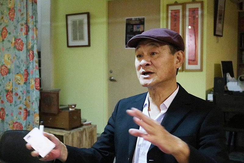 金鐘視帝陳慕義接受媒體訪問