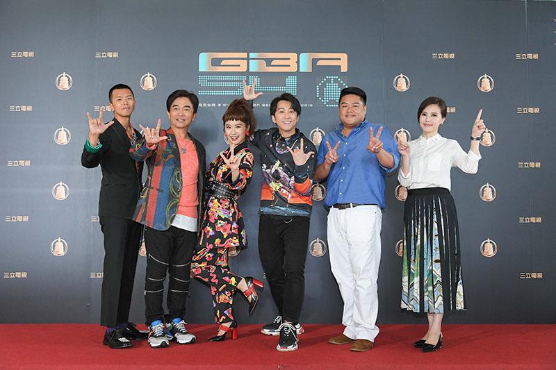 (左起)小鬼黃鴻升、吳宗憲、Lulu黃路梓茵、陳漢典、呂捷及王偊菁