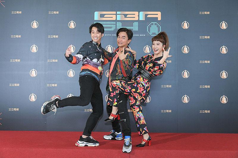 (左起)陳漢典、吳宗憲、Lulu黃路梓茵