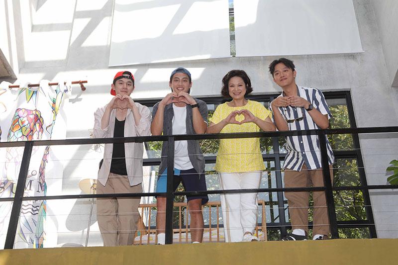 (左起)《阮三个》張軒睿、范少勳、楊貴媚、索艾克Soac