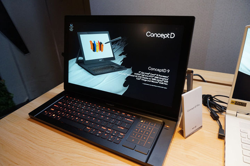 造型相當特殊的 Acer ConceptD 9 也預計在今年第四季上市。