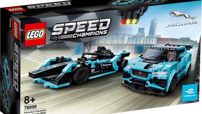 Jaguar與Lego合作推出Formula E與I-PACE eTROPHY積木。