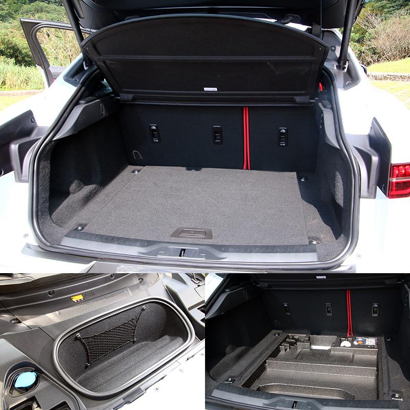 後行李廂在標準乘坐模式下的最大承載容積為656公升,平坦化的底板設計方便裝卸物品,若將第二排座椅摺疊後則可進一步擴增至 1,453 公升,行李廂下方亦有置物盒,而車頭引擎蓋下方也提供額外的 27公升儲物空間。