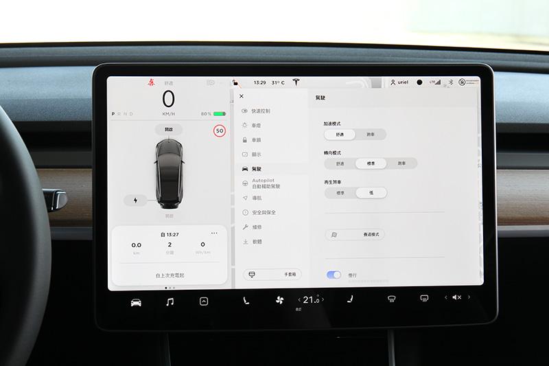 除了舒適與跑車模式外,Performance車款另有賽道模式,主要是電子系統的介入時機會較晚,提供更多駕駛樂趣。