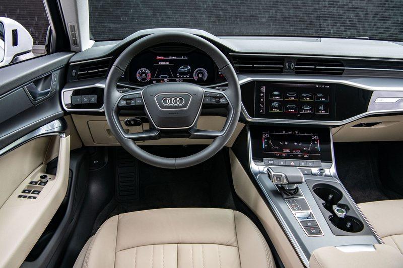 虛擬座艙讓A6車室有著濃厚科技氛圍。
