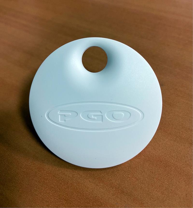 PGO電動車磁扣實體圖。