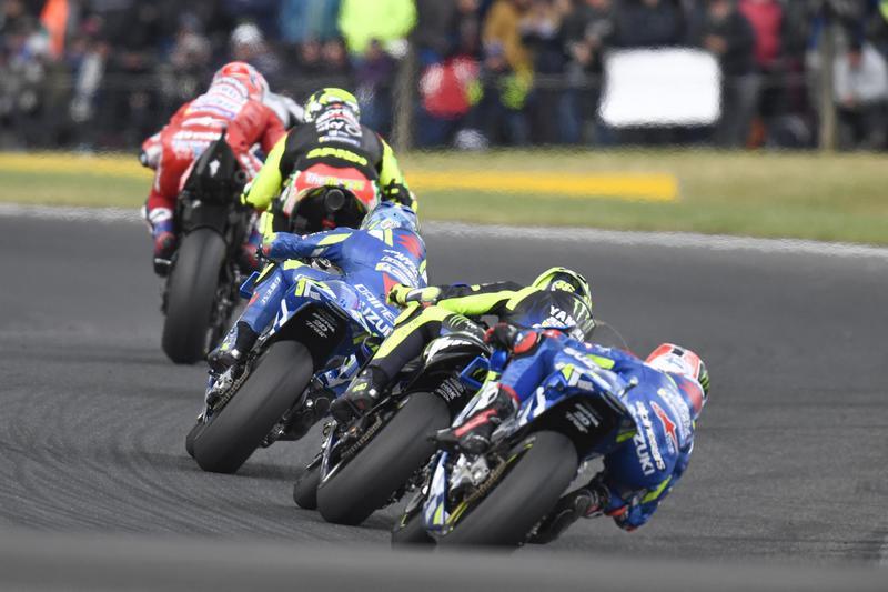 Rossi只領跑三圈之後站力就開始下滑。
