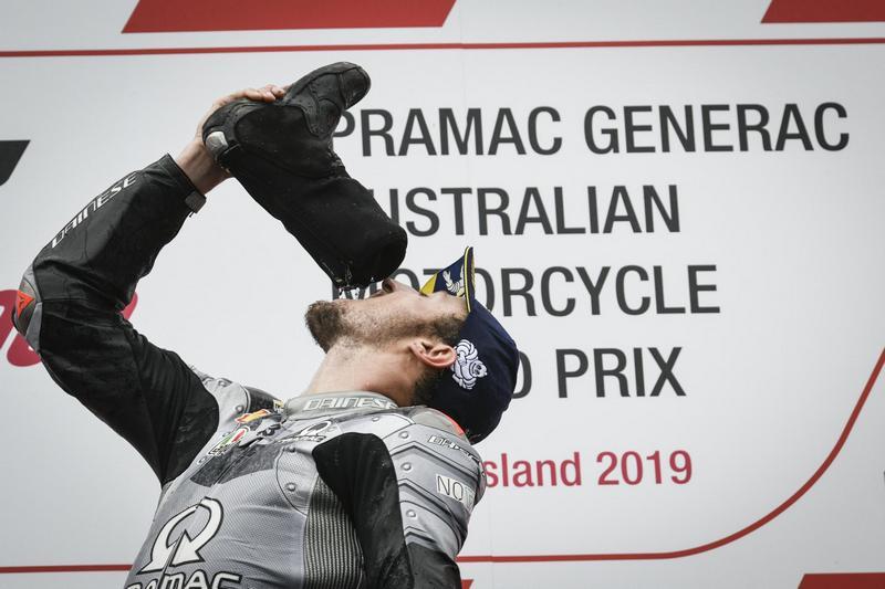 最後由Marquez、Crutchlow與Miller站上頒獎台。