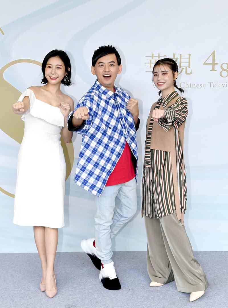 華視48週年台慶(左起)ALBEE、佼佼、宇珊/華視提供