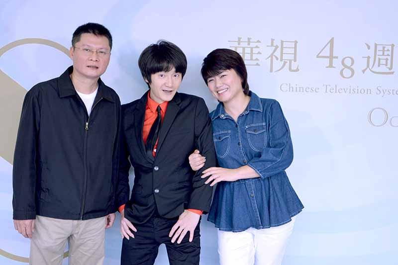 華視48週年台慶(左起)陳長倫、旺福小民;嚴藝文/華視提供