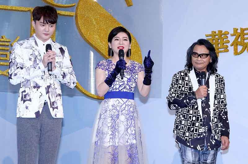 華視48週年台慶(左起)許富凱、王彩樺、沈文程