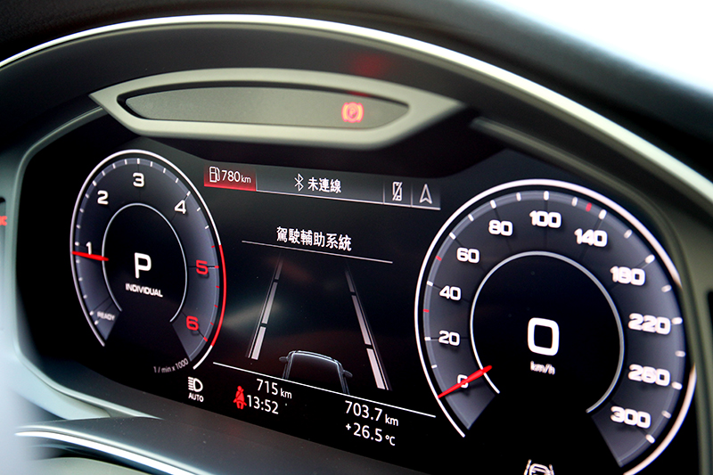 Level 2半自動駕駛讓駕駛A6更輕鬆便利也更討喜。