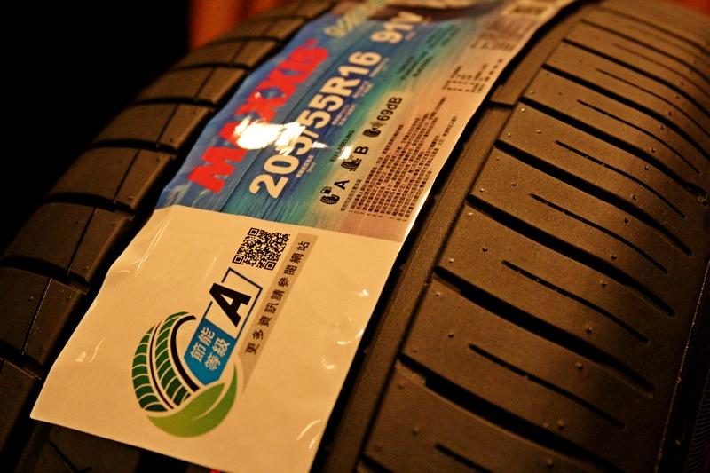 節能輪胎標誌區分A、B、C三個等級,節能等級越高代表車輛行駛中滾動阻力越低,節省燃油越多。