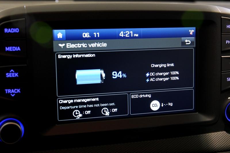 中控螢幕內也能觀看剩餘電量。