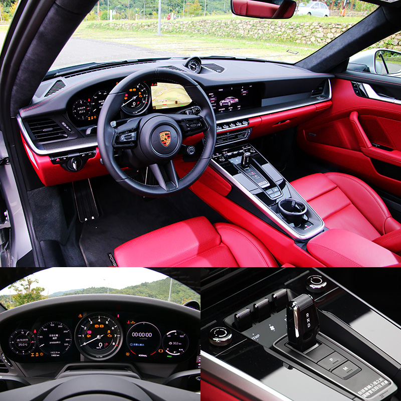 數位化的座艙與全新設計的排檔頭是992世代與過去歷代911座艙相較最大的進化。