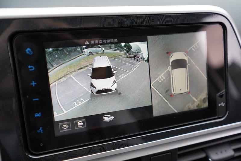 PVM系統是透過安裝在車身周圍共4具鏡頭提供全車的環景影像
