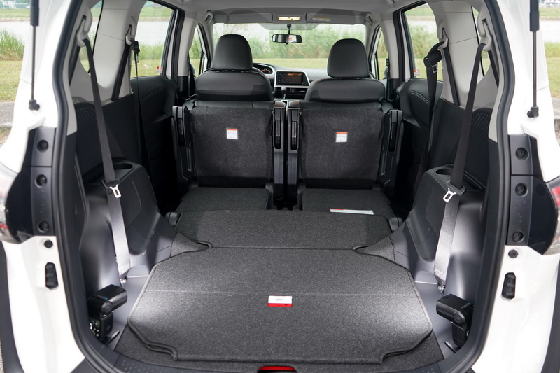 Sienta靈活的座椅變化要拿來當小型商用車使用也不成問題