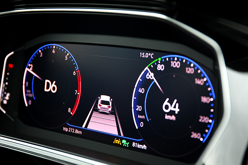 Style Design以上之車型標配10.25吋數位駕駛儀表