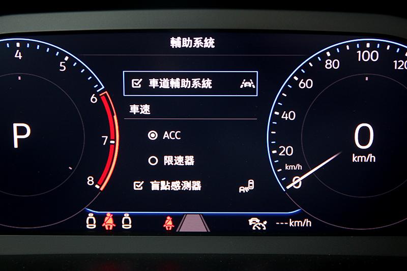全套IQ.DRIVE包含前方碰撞預警、行人偵測、ACC、車道維持及偏移警示、盲點偵測、後方橫向車流警示、倒車顯影、停車導引系統功能