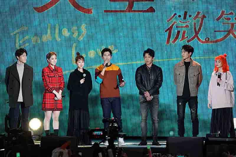 天堂的微笑演員(左起) 唐振剛、方志友、林予晞、修杰楷、黃尚和、涂善存、鄭心慈