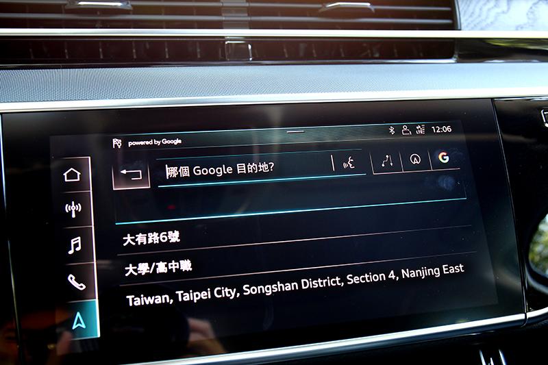 因內建網路所以能使用Google Map功能。