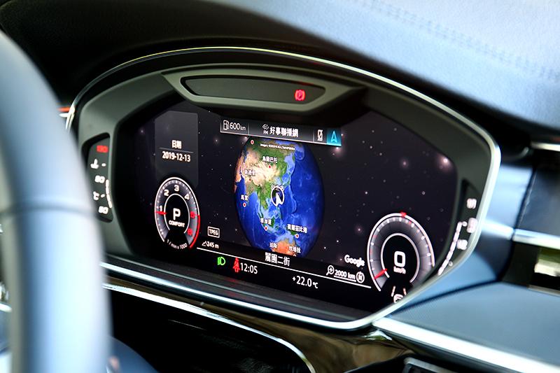 儀表也能顯示Google <ap衛星模式介面。