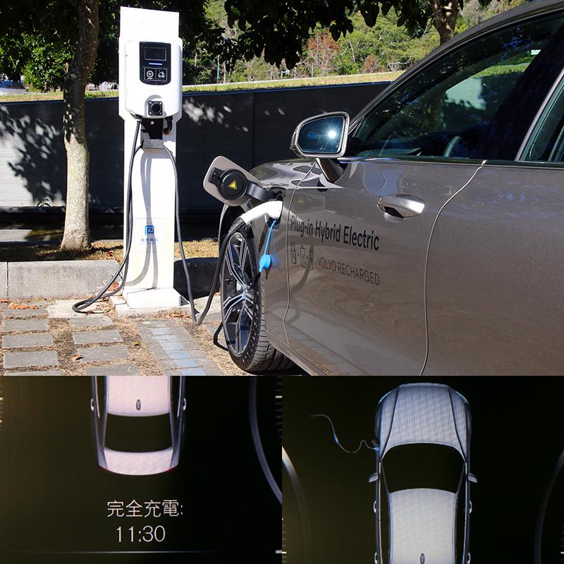 S60 T6 TwEn Inscription配置一組11.6千瓦小時的鋰電池模組,以一般充電設施充電可在約4小時的時間充滿將電池充滿,每一次充滿在純電模式下最大的續航力可達51公里。