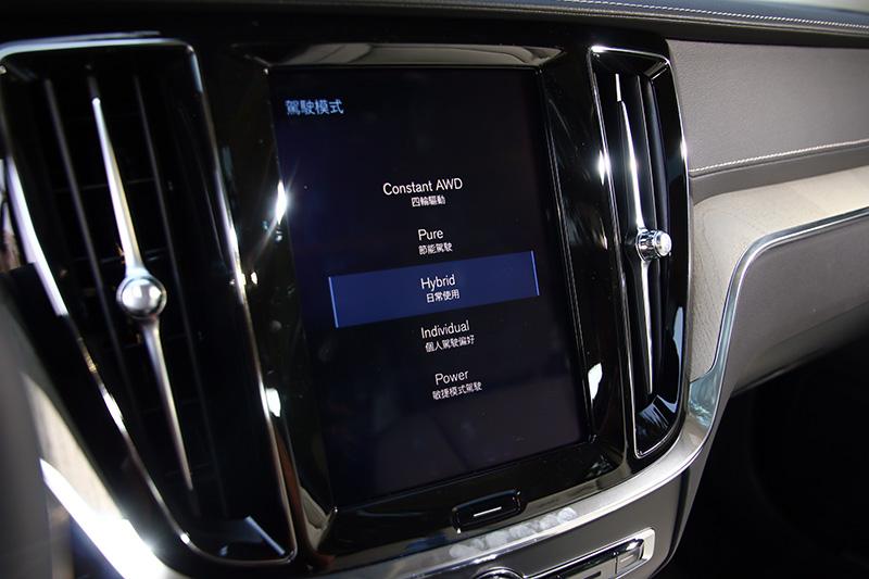 S60 T6 TwEn Inscription共有五種動態模式可選。