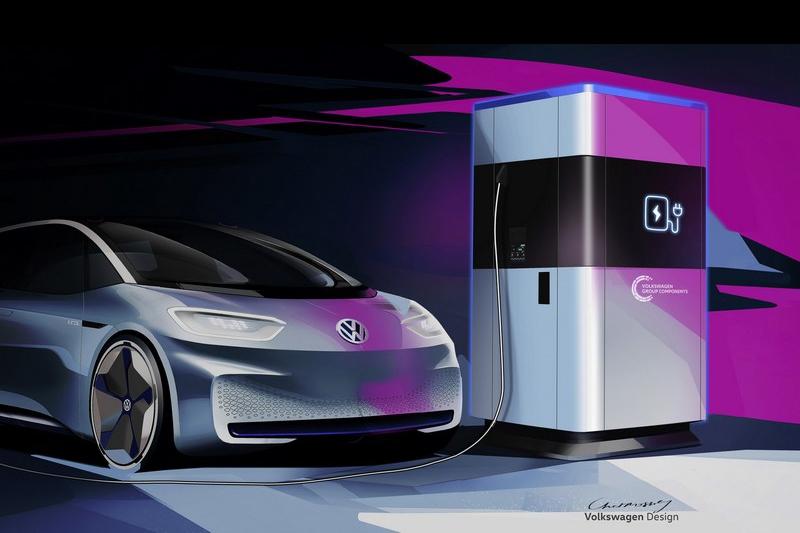 Volkswagen先前有推出移動式充電站解決充電問題。