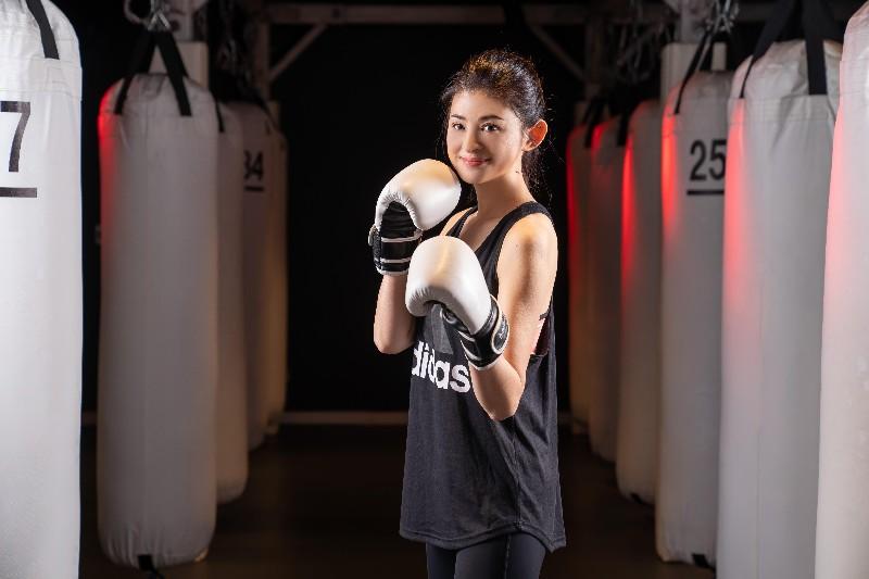 蘇宗怡決心認真練拳擊健身。/TVBS提供