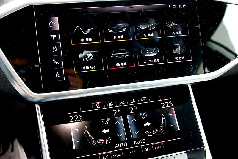 雙螢幕將娛樂通訊與空調區分,並提供豐富功能與直覺操作。