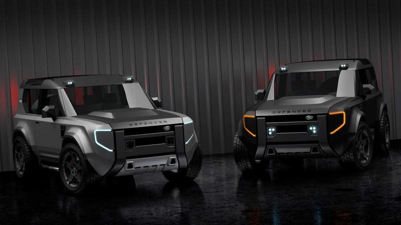 Dejan Hristov所繪製的Defender入門車型預想圖。