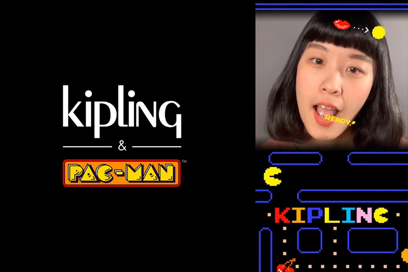 Kipling 攜手Pac-Man推出IG濾鏡遊戲