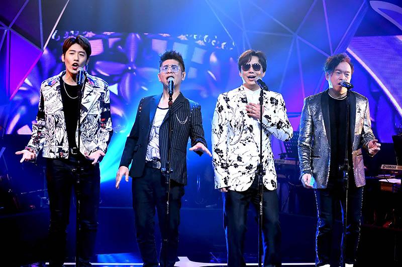 全新台語音樂綜藝節目《上奅台灣歌》(左起)黃昺翔、荒山亮、蕭煌奇、康康