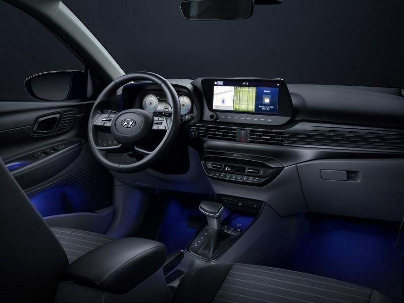 i20配置10.25吋的儀表與中控螢幕。