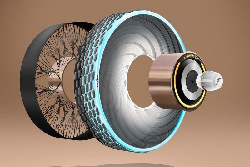 固特異reCharge輪胎採用強化纖維製作。