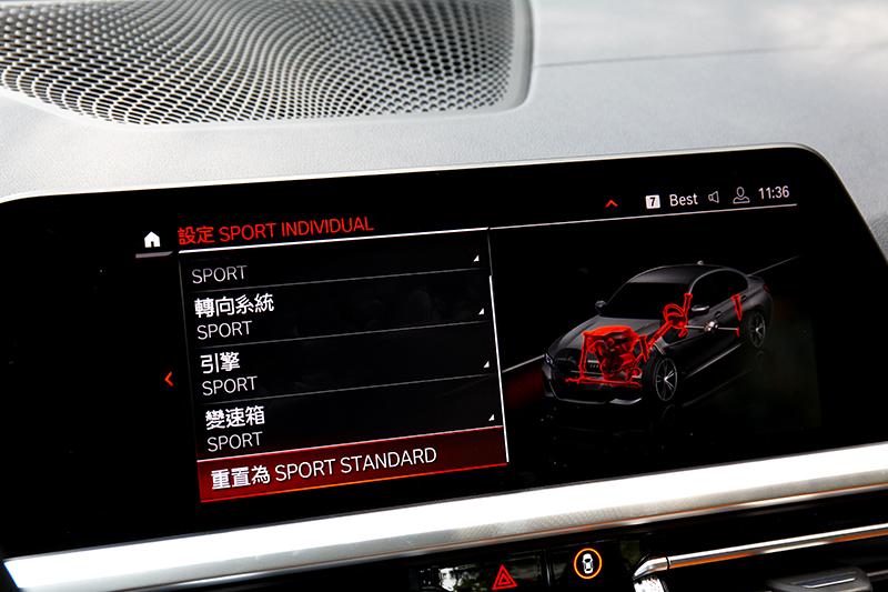 變速箱、懸吊與轉向力道都能調整,引擎輸出則有Sport+模式。