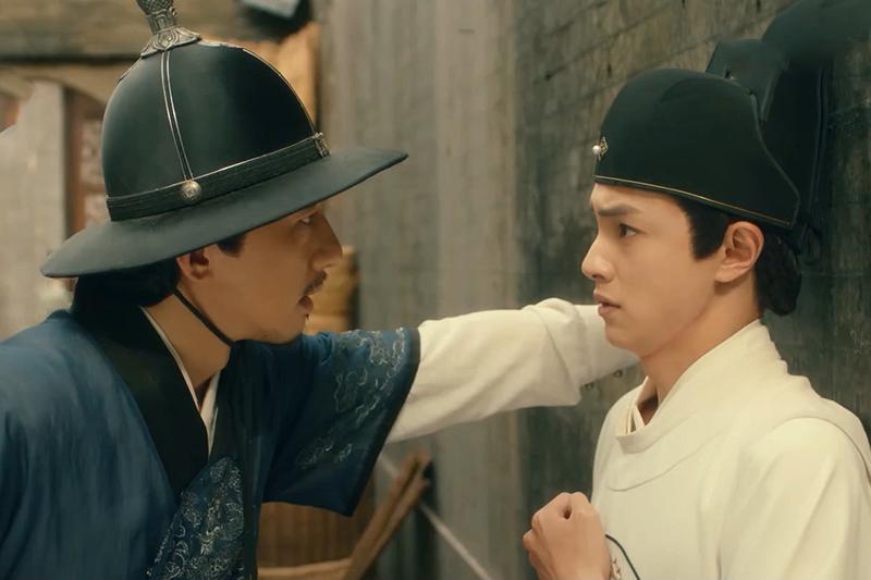 《成化十四年》傅孟柏(左)霸氣壁咚官鴻(右)