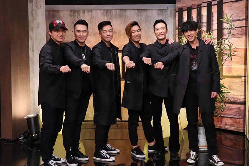 《OLD派聯盟》成員黃丹尼(左起)、大隸、阿BEN、阿弟、Kido、Dennis