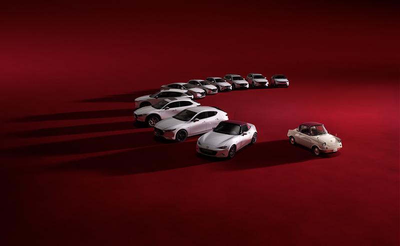 旗下MaX-5、Mazda 2、Mazda 3、Mazda 6、CX-3、CX-30、CX-5與CX-8等車型皆會推出100週年特仕車。