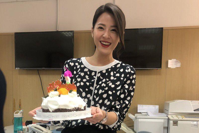 蘇晏霈父母高雄自駕北上,為她溫馨慶生