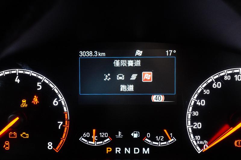行車模式切換系統,具有防滑(Slippery/Wet)、標準(Normal)、運動(Sport)與賽道(Track)四種駕駛模式。