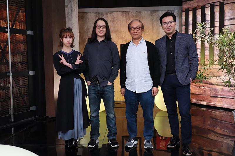 主持人瑪麗(左起)、剪接指導高鳴晟、剪接指導廖慶松、主持人鄭偉柏。/E!Studio藝鏡到底提供