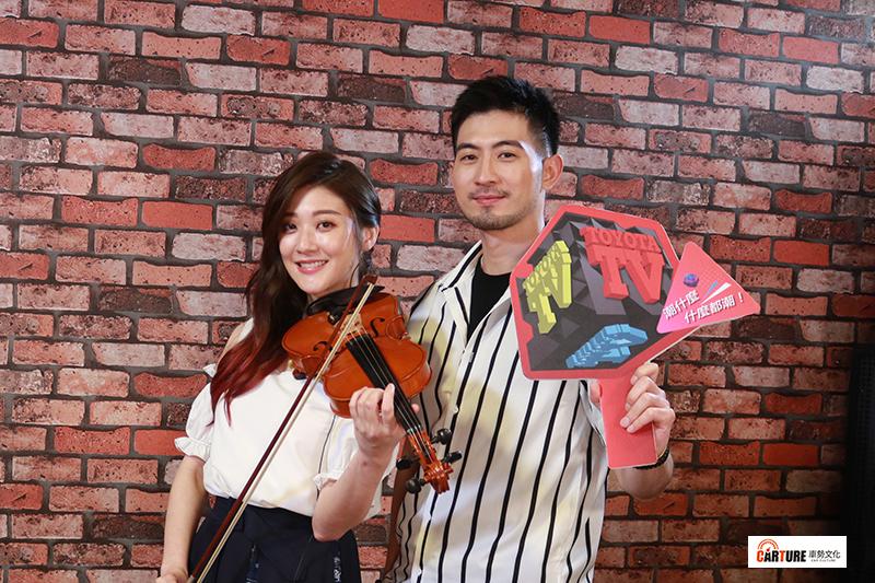 林逸欣(左起)、言明澔以「歌手身分」首度合體。