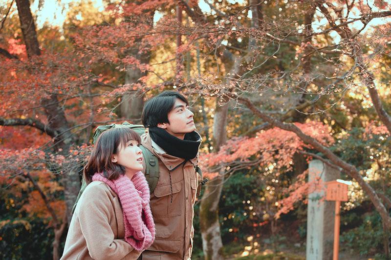 《若是一個人》孫可芳、宋柏緯遠赴京都取景。/華視提供